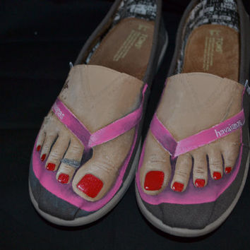 "Custom TOMS Shoes  - Forever Summer - ""Made to Order"""