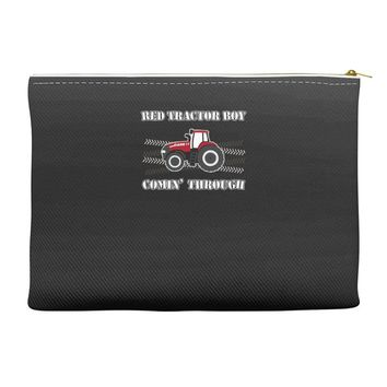 case ih red tractor boy comin' through Accessory Pouches