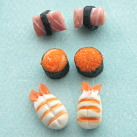 sushi sampler stud earrings
