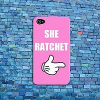 Funny She Ratchet Pink Phone Case Cute Disney Cover iPhone Cover Middle Finger