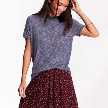 Old Navy Womens Marled Fitted Tee
