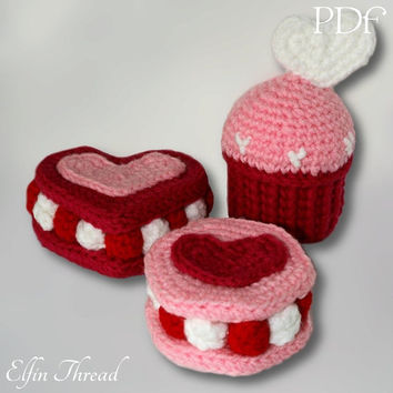 Elfin Thread love cookies Amigurumi Pattern (cookies crochet pattern - Crochet food)