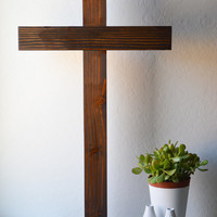 Wood Cross, Extra Large, Handmade, Rustic