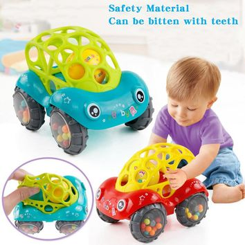 1Pc Colorful Baby Educational Toys Rattles Car Mobile For Newborns Baby Cribs Children Boys Girls No-toxic Hand Bells a Stroller