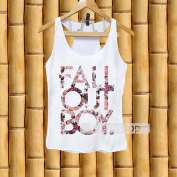 Tank top for men and women- FALL OUT BOY flowers