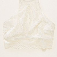 Aerie Lace Hi Neck Bralette , Soft Muslin | Aerie for American Eagle