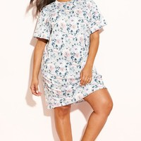 "Rebdolls ""Flowerbomb"" T-Shirt Dress – REBDOLLS"