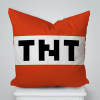 TNT Minecraft Popular Game Square Pillow Cover, Pillow Case, Cushions Pillow Cover, Home Decor Pillow, Bed Pillow, Bedding, Housewares
