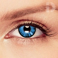 iD Lenses Dolly Eye Blue Coloured Contacts