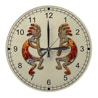 Kokopelli Southwestern Wall Clock Design from Zazzle.com