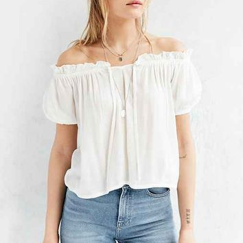 BOG Collective Cap-Sleeve Off-The-Shoulder Blouse