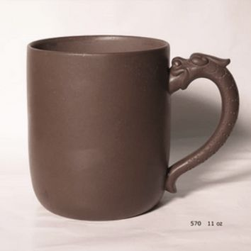 Dragon handle Tea Mug - Chinese Yixing Clay