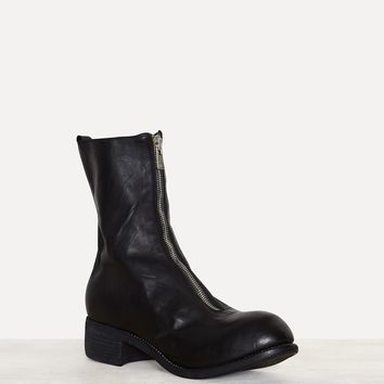 Guidi PL2 Black Horse Orthopedic Mid Front Zip Boots
