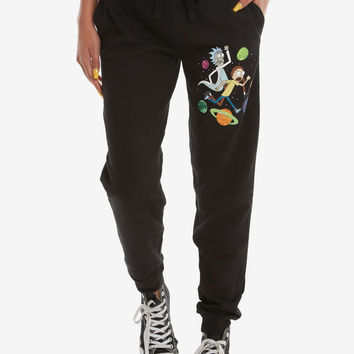 Rick And Morty Planets Girls Jogger Pants