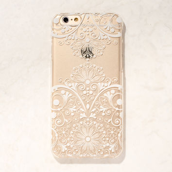 Clear White Mandala Filigree Boho Indian iPhone 6S/ 6 case