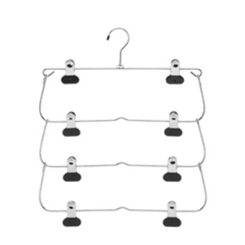 4 Tier Fold-Up Hanger - For Pants/Skirts Dorm Closet Organizer Supplies Stuff Hang Clothes