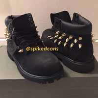 """Black or Wheat Timberlands """"Only Spikes"""" All Sizes"""