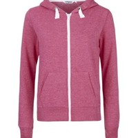 New Look Mobile | Teens Bright Pink Marl Zip Up Hoodie
