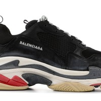 SPBEST Balenciaga Triple S - Black White Red