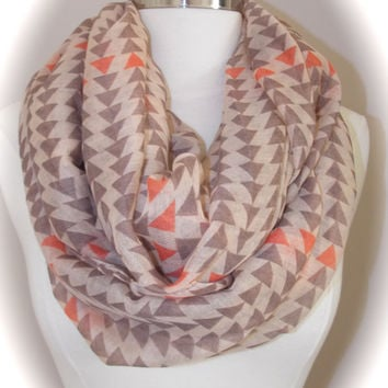 Super light triangle infinity scarf/ fashion scarf