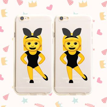 Twinning Emoji - Clear TPU Case Cover Phone Case