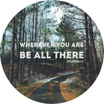 Be All There Circle Wall Decal