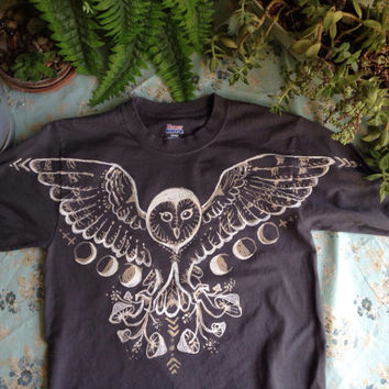 Barn Owl shirt-  made to order