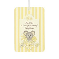 Boy | Girl Baby Shower Favors Personalized Yellow Air Freshener