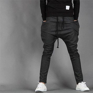 Men Harem Pants Casual Pants Trouse Boys School Trousers Pants Baggy Cool Fashion Joggers New Arrival 0017