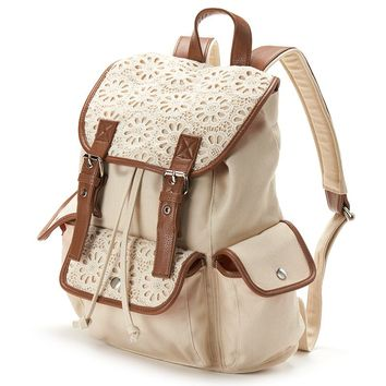 Candie's Peyton Crochet Cargo Backpack