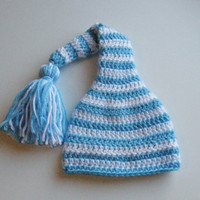 Long Tailed Striped Hat  6-12 months 1-4 years