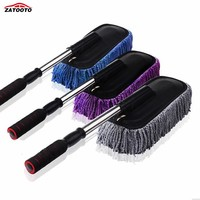 Microfiber Car Wash Brushes With Adjustable Handle Scalable Car Cleaning Brush