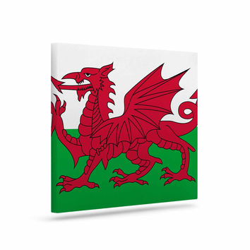 "Bruce Stanfield ""Flag Of Wales - Authentic"" Fantasy Illustration Canvas Art"