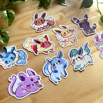 Pokemon - Eeveelutions - Stickers