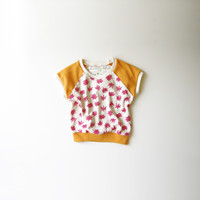 Cactus Flowers Organic Kids and Babies Cap Sleeve Raglan - 6-12M