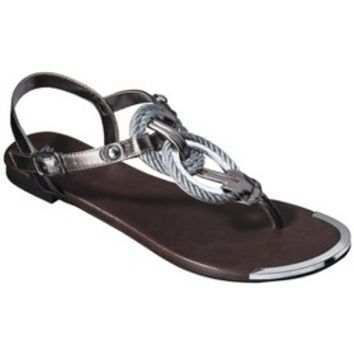 Women's Mossimo® Gabriela Braided Metallic Sandal