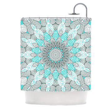 "Monika Strigel ""Dots and Stripes Mint"" Shower Curtain"
