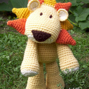 INSTANT DOWNLOAD : KISS Series - Lion Crochet Pattern