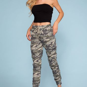 Stacy Camo Joggers