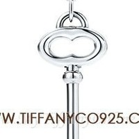 Shopping Cheap Tiffany Keys Vintage Oval Key Pendant Necklace in Sterling Silve At Tiffanyco925.com - Discount Tiffany Necklaces