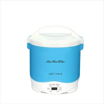 Portable Electric Mini Rice Cooker Small home appliance for 1-2 people heating lunch box cookers