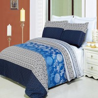 Lydia Printed Combed cotton 8-Piece Bed in a bag