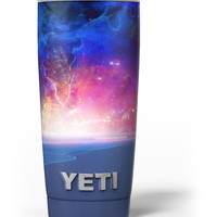 Galaxy Explosion over Calm Sea Shore Yeti Rambler Skin Kit