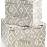 The MacBeth Collection India Jute Set of 2 Storage Boxes