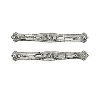 "Downton Abbey Silver Tone Classic Edwardian ""Bar Pin"" Hair Jewelry with Bobby Pin Fasteners - ShopPBS.org"