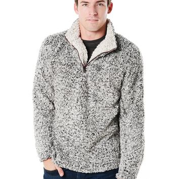 True Grit Men's Frosty Tipped Pile Half Zip Pullover