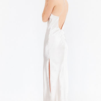 Bardot Pfeiffer Shine Maxi Slip Dress | Urban Outfitters