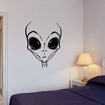 Wall Decal Extraterrestrial Alien Humanoid Newcomer Space Vinyl Stickers (ed055)