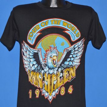 80s Van Halen World Tour 1984 Deadstock t-shirt Small