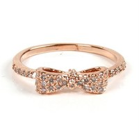 Rose Gold Mini Bow Ring